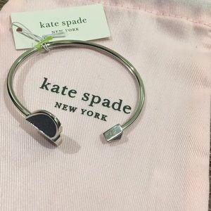 Kate spade open heart bangle bracelet NWT